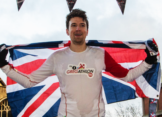 DJ Greg James completes his Sport Relief Challenge and raises £774,194