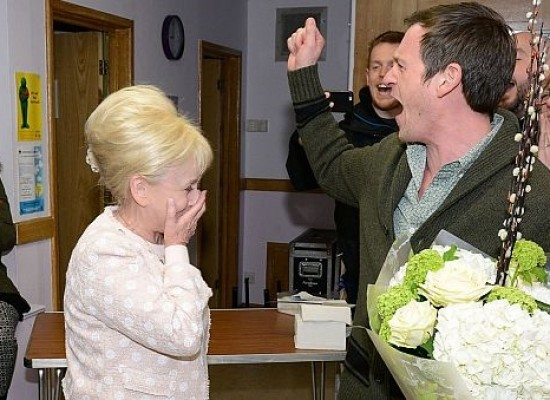 EastEnders cast and crew celebrate Barbara Windsor's damehood leaving the actress emotional