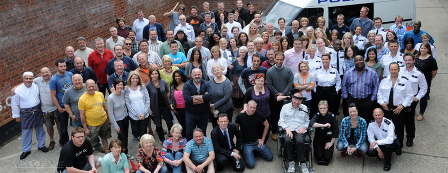The Bill final episode - cast and crew 2010 Thames TV / ITV