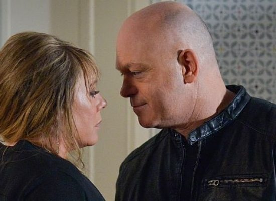 Grant and Sharon share a moment in EastEnders