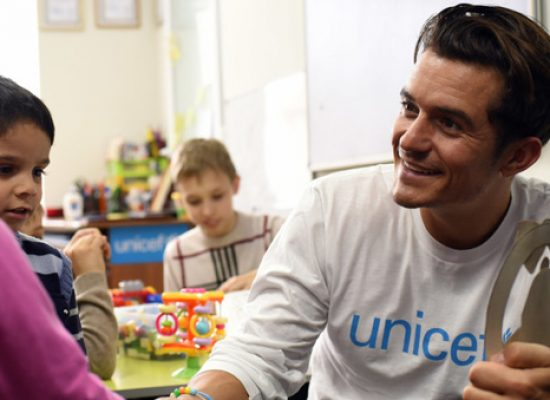 Orlando Bloom visits conflict-hit Ukraine