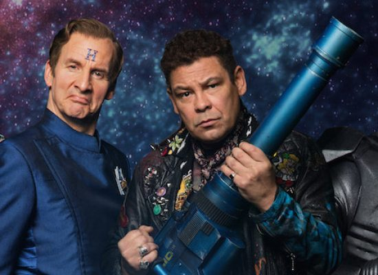 Chris Barrie, Craig Charles, Danny John-Jules and Robert Llewellyn get ready for Red Dwarf XI