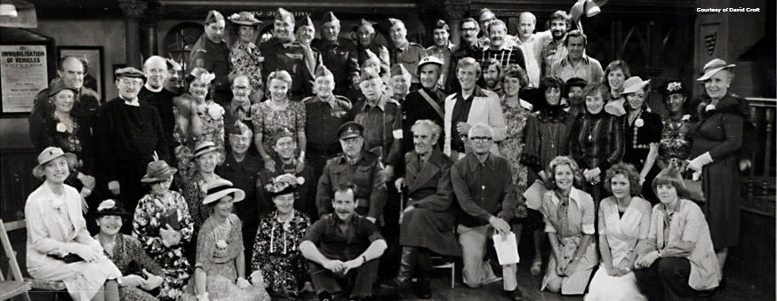 Dad's Army cast and crew inc: Perry & Croft