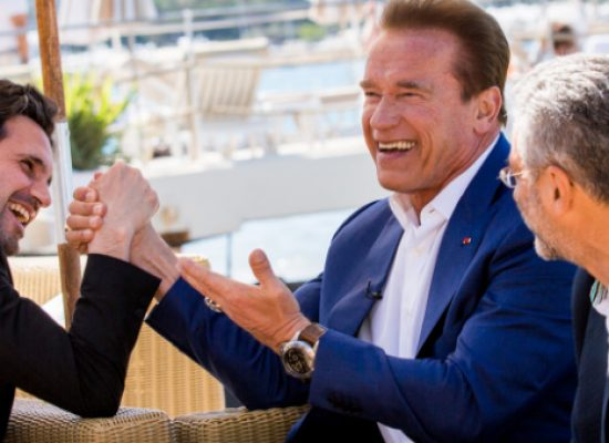 Arnold Schwarzenegger and Jean-Michel Cousteau promote Wonders of the Sea 3D
