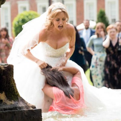 Eva and Maria at a Crossroads with fountain fight