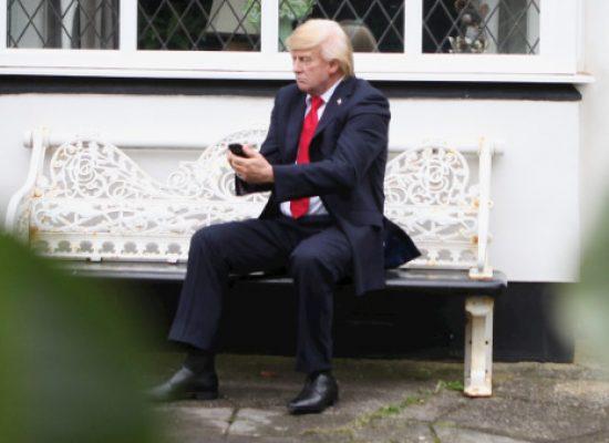 Donald Trump takes to Blackpool White House