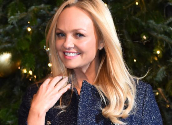 Emma Bunton spices up The Royal Exchange with festive switch on