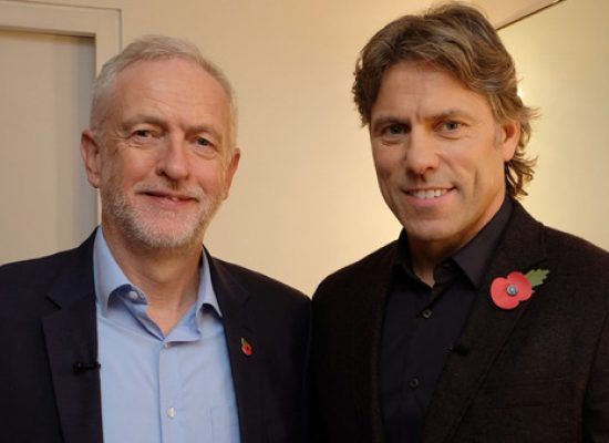 Jeremy Corbyn to spend an hour in conversation with John Bishop