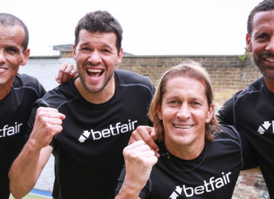 Rio Ferdinand, Michael Ballack, Michel Salgado and Rivaldo bring footie surprise to amateur team
