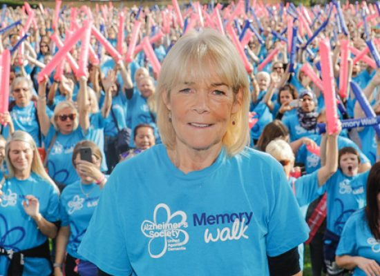 Linda Robson supports dementia Memory Walk