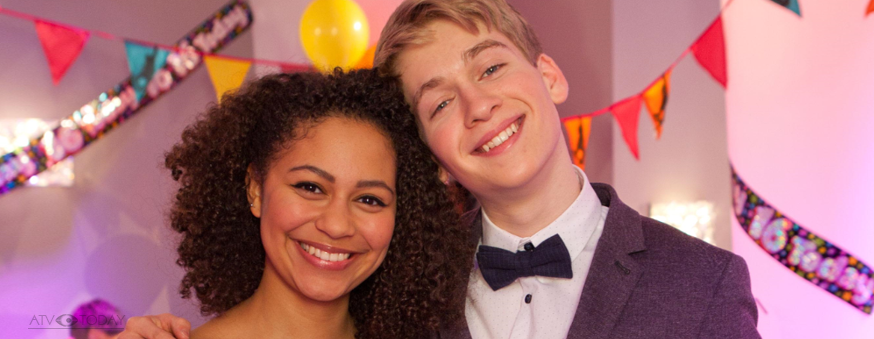 Hollyoaks Jade (Kassius Nelson) and Alfie (Richard Linnell)