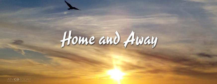 Home and Away logo over ATV Network photo of sunset