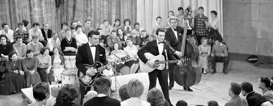 Lonnie Donegan - filming of the Six Five Special 1957