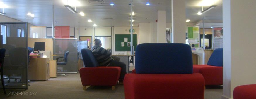 The interior of Gateshead Job Centre in 2009