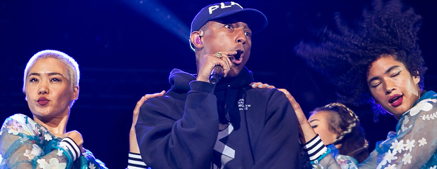 Pharrell Williams Closes Open'er Festival 2016 in emphatic style