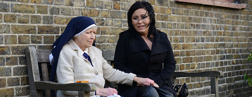 Sister Ruth and Kat Moon - June Whitfield and Jessie Wallace - EastEnders