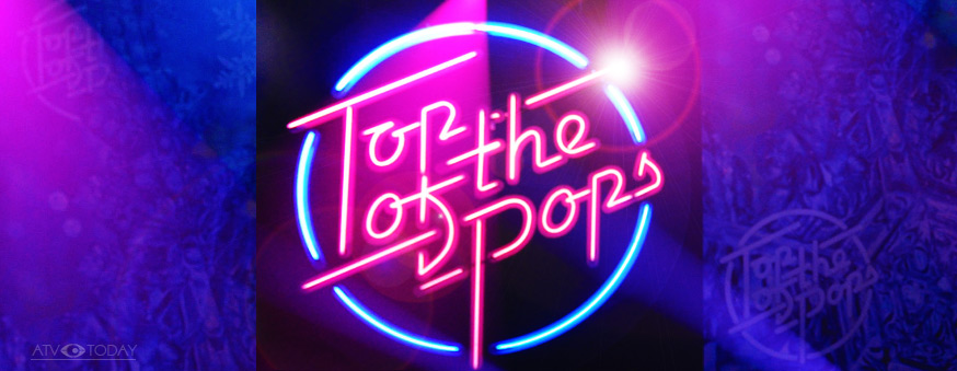 Top of the Pops 2009 logo - studio neon recreation of the iconic 1970s/80s logo