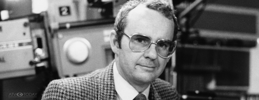 William Smethurst on the Crossroads set in 1986 - Central TV