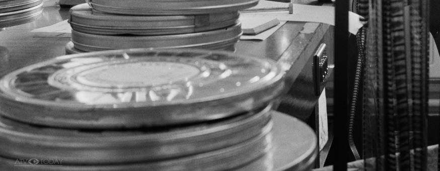 Film Cans and film - ATV Elstree studios 1962
