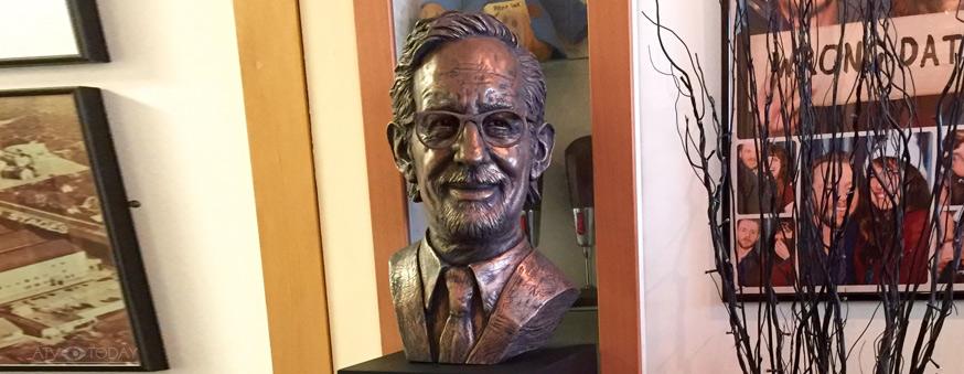 Steven Spielberg bust at Elstree