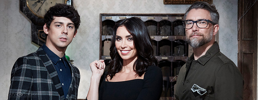 Christine Lampard with co-hosts Matt Richardson and Jamie East
