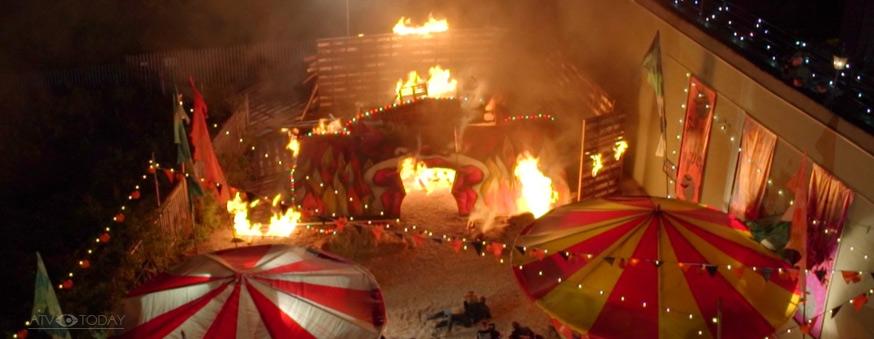 Hollyoaks Halloween Fire