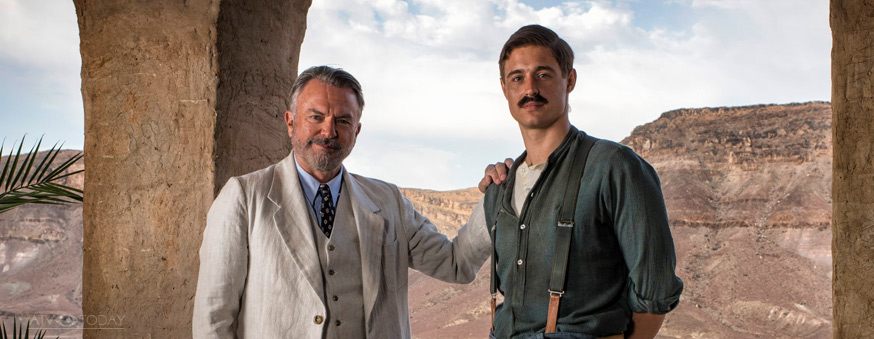 TUTANKHAMUN Pictured: SAM NEILL as Lord Carnarvon and MAX IRONS as Carter.