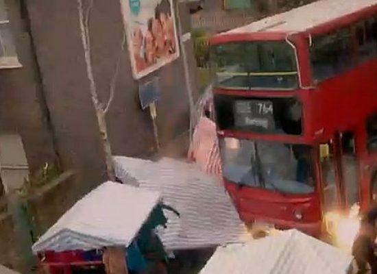 EastEnders screens bus crash stunt
