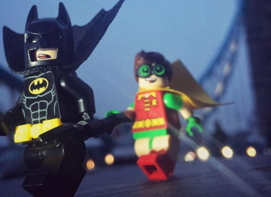 London's Southbank sees Batman Lego arrive in dramatic style