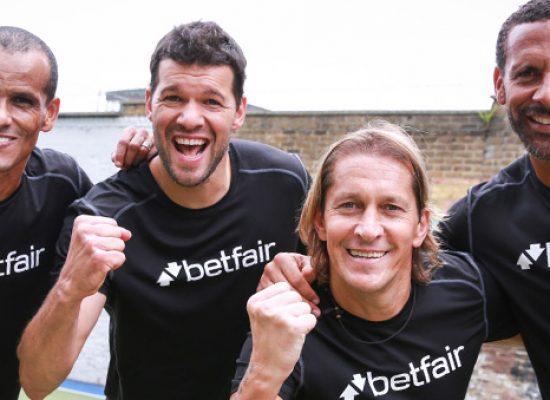 Rio Ferdinand, Michael Ballack, Michel Salgado and Rivaldo bring footie surprise to amateur team