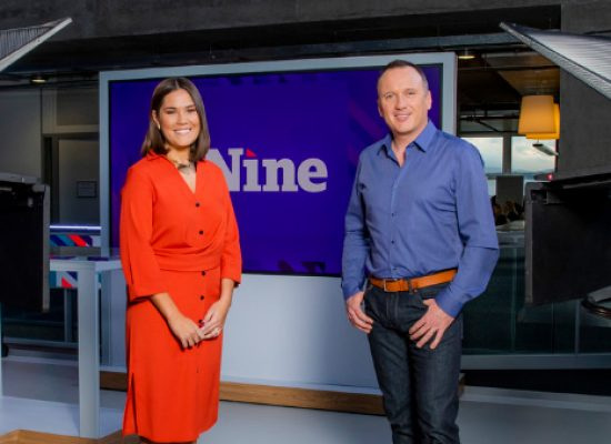Rebecca Curran and Martin Geissler reveal BBC Scotland news set for The Nine