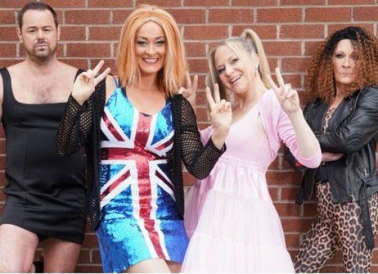 EastEnders' Carter clan film on location for Spice Girls themed plot