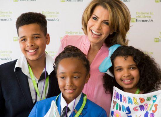 New Barnardo's President Natasha Kaplinsky celebrates work of the charity
