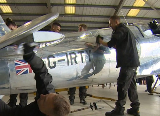 Silver Spitfire makes world tour