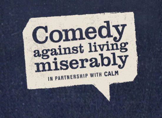 Darren Harriott, Seann Walsh and Suzi Ruffell for Comedy Against Living Miserably