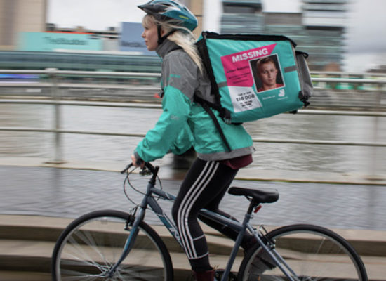 Two people featured on Deliveroo bags have been found as part of the National Ride to Find campaign