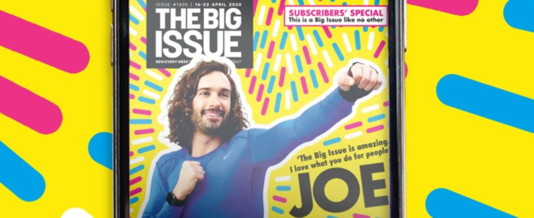 Joe Wicks helps to launch The Big Issue's new app