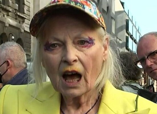 Vivienne Westwood goes canary for Julian Assange