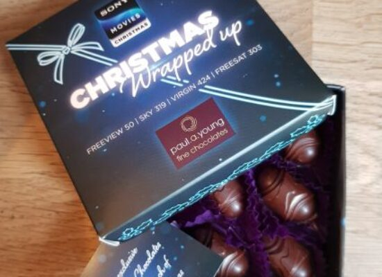 Chocolatier Paul A Young supports Sony Movies Christmas launch